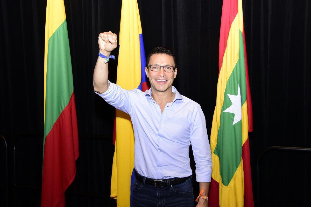 Carlos Caicedo, listo para su primer debate presidencial en el Gran Foro Caribe