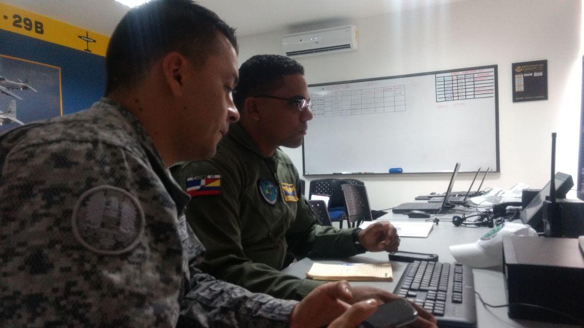 Ejercicio de interceptación de aeronave ilegal en CACOM-3