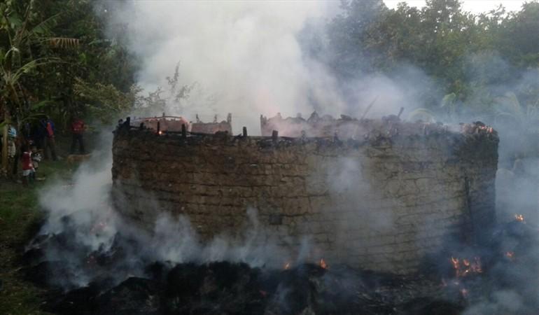 Incendio destruyó dos centros ceremoniales indígenas de la Sierra Nevada