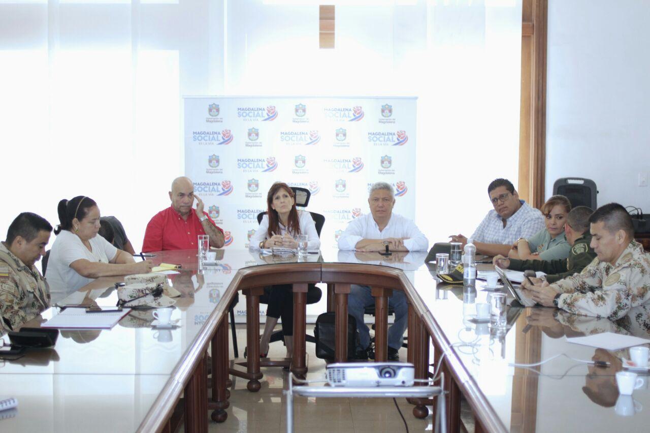 Autoridades establecen acciones para garantizar orden público en Puebloviejo