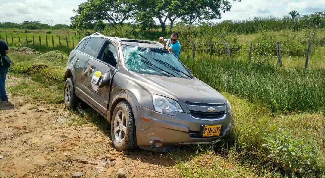 Se accidentó en Pivijay Patricia Caicedo Omar