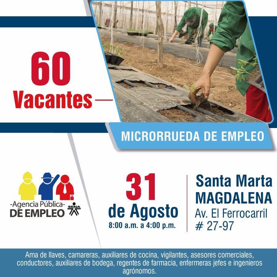 La agencia p blica de empleo del sena ofertar 60 vacantes en santa marta opinion caribe - Trabajo de jefe de cocina ...