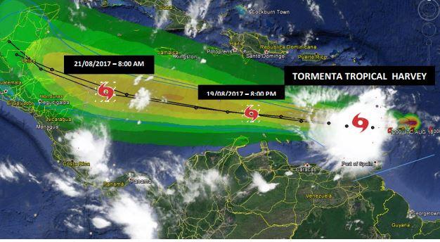 Alerta en municipios del Magdalena por tormenta tropical Harvey