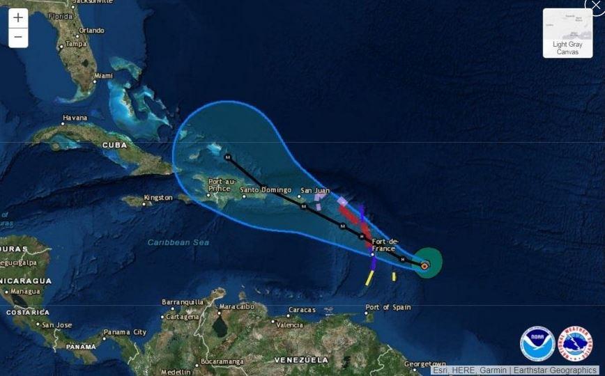 María alcanza categoría 2 y su fuerza se intensificará en próximas horas