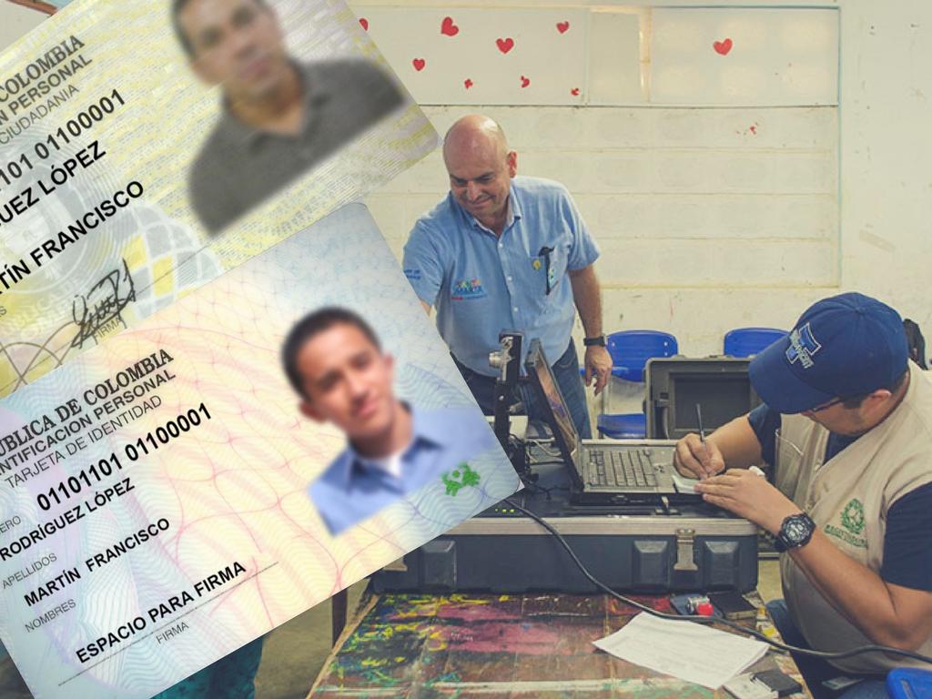 Jornada de registro de tarjetasde identidad y duplicadosde cédulas en Guachaca