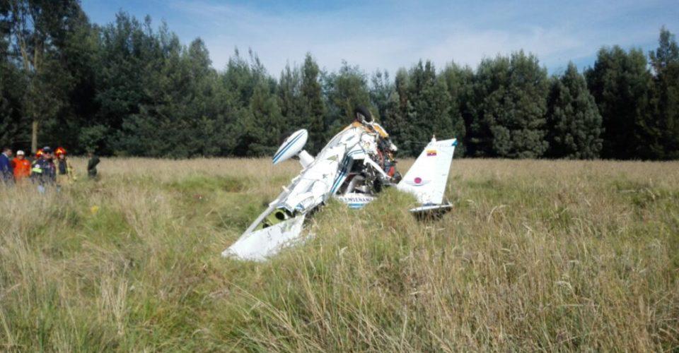 Accidente de avioneta en Cundinamarca deja dos muertos